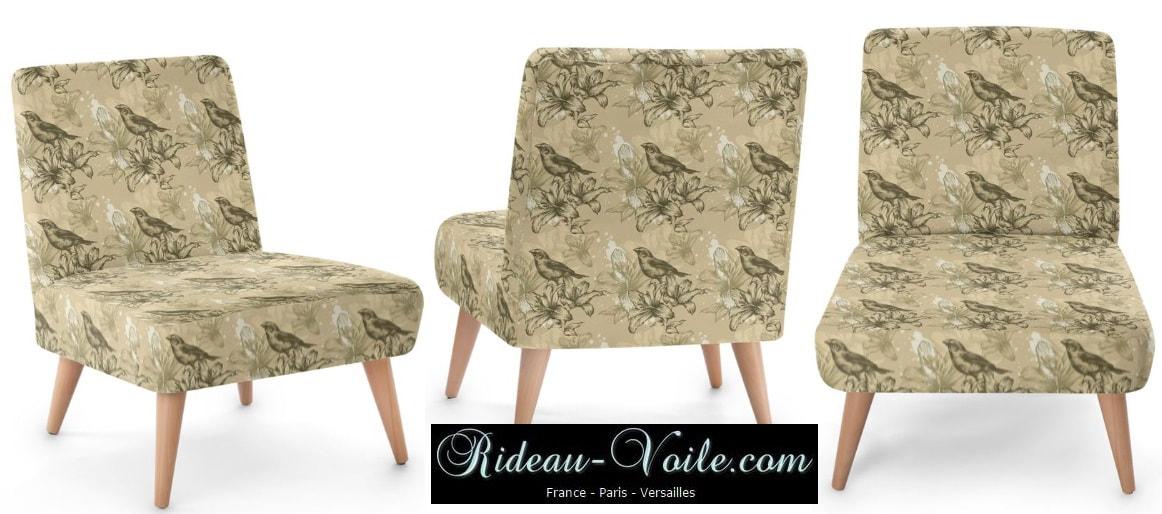 fauteuil motif tissu fleurs fleuri floral rideaux et tissus ameublement. Black Bedroom Furniture Sets. Home Design Ideas