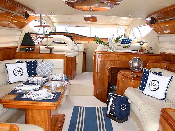 Rideau tissu style marin bateau for Decoration yacht