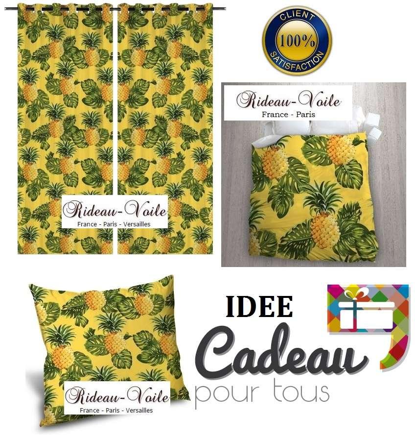 rideau coussin couette tropicale exotique rideaux et tissus ameublement. Black Bedroom Furniture Sets. Home Design Ideas