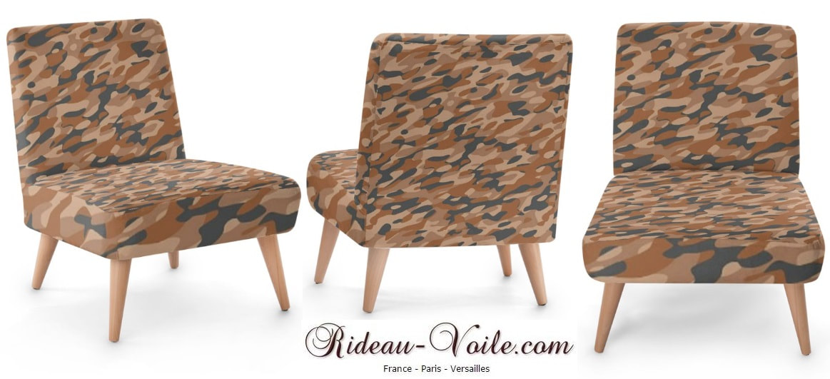 tissu camouflage militaire tapisserie siège fauteuil d'appoint armchair