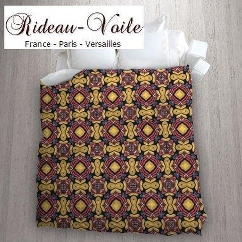 Tissu couette motif wax africain rideaux et tissus ameublement - Housse de couette africaine ...