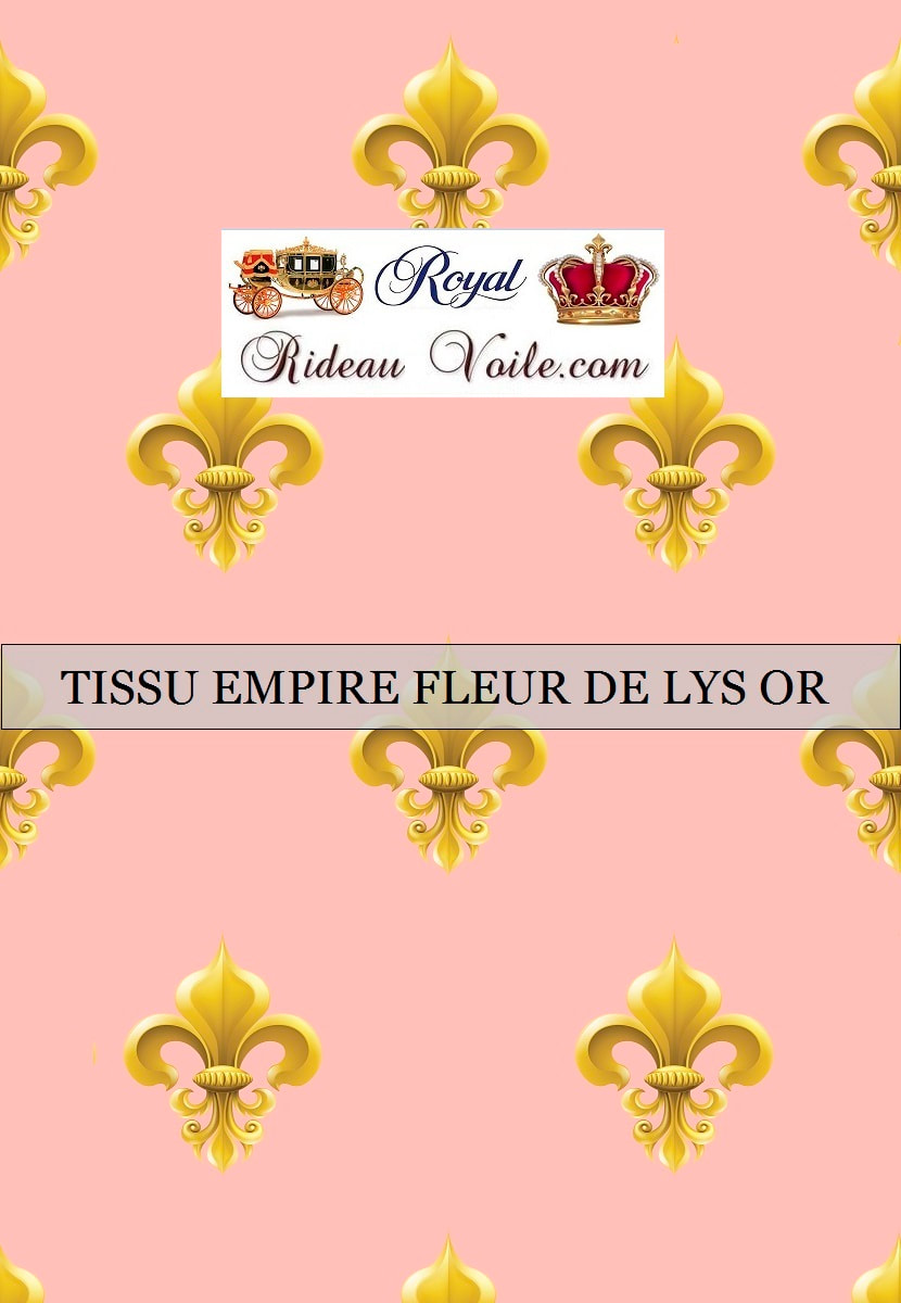 noir rose blanc gris ornement style empire fleur de lys royal tissu ameublement France Paris Versailles