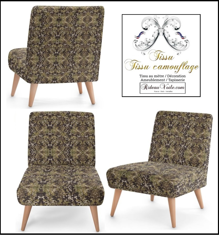 ​tissu, camouflage, militaire, au mètre, rideau, coussin, couette, fauteuil, siège, d'appoint, ameublement, tapisserie, duvet, cover, pillow, cushion, curtain, drapes, lampshade, armchair, fabric, army, pattern, ткань с камуфляжным рисунком, занавес, Tarnmuster Stoff, vorhang, tenda, fuggony, stof, mønster, gardin, tela de camuflaje, cortina, naamiointikuvio,  kangas, verho, ύφασμα, μοτίβο, καμουφλάζ, κουρτίνα, בד דפוס ,הסוואה, וילון, tessuto, con, motivo, mimetico, gordijn, kurtyna, wzór w kamuflaż, занавес, ткань с камуфляжным, рисунком, kamouflagemönster, tyg, luxe Paris Versailles France