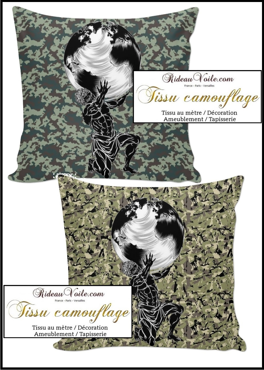 ​tissu, camouflage, militaire, au mètre, rideau, coussin, couette, fauteuil, siège, d'appoint, ameublement, tapisserie, duvet, cover, pillow, cushion, curtain, drapes, lampshade, armchair, fabric, army, pattern, ткань с камуфляжным рисунком, занавес, Tarnmuster Stoff, vorhang, tenda, fuggony, stof, mønster, gardin, tela de camuflaje, cortina, naamiointikuvio,  kangas, verho, ύφασμα, μοτίβο, καμουφλάζ, κουρτίνα, בד דפוס ,הסוואה, וילון, tessuto, con, motivo, mimetico, gordijn, kurtyna, wzór w kamuflaż, занавес, ткань с камуфляжным, рисунком, kamouflagemönster, tyg, luxe Paris Versailles France grande largeur ignifugé non feu
