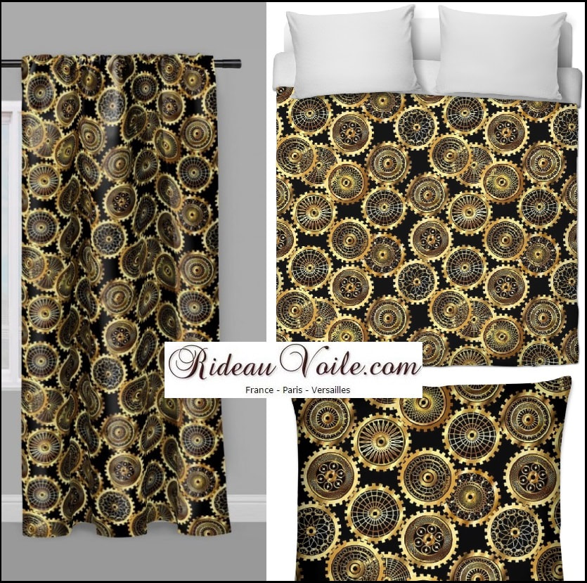 Decorating room upholstery pattern Steampunk rideau tissu mètre couette fabrics drapes Photo