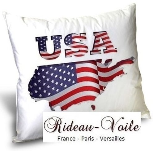 tissu imprimé fabric printed USA pattern motif design coussin rideau douche couette original ignifugé occultant state unided drapeau indepence day