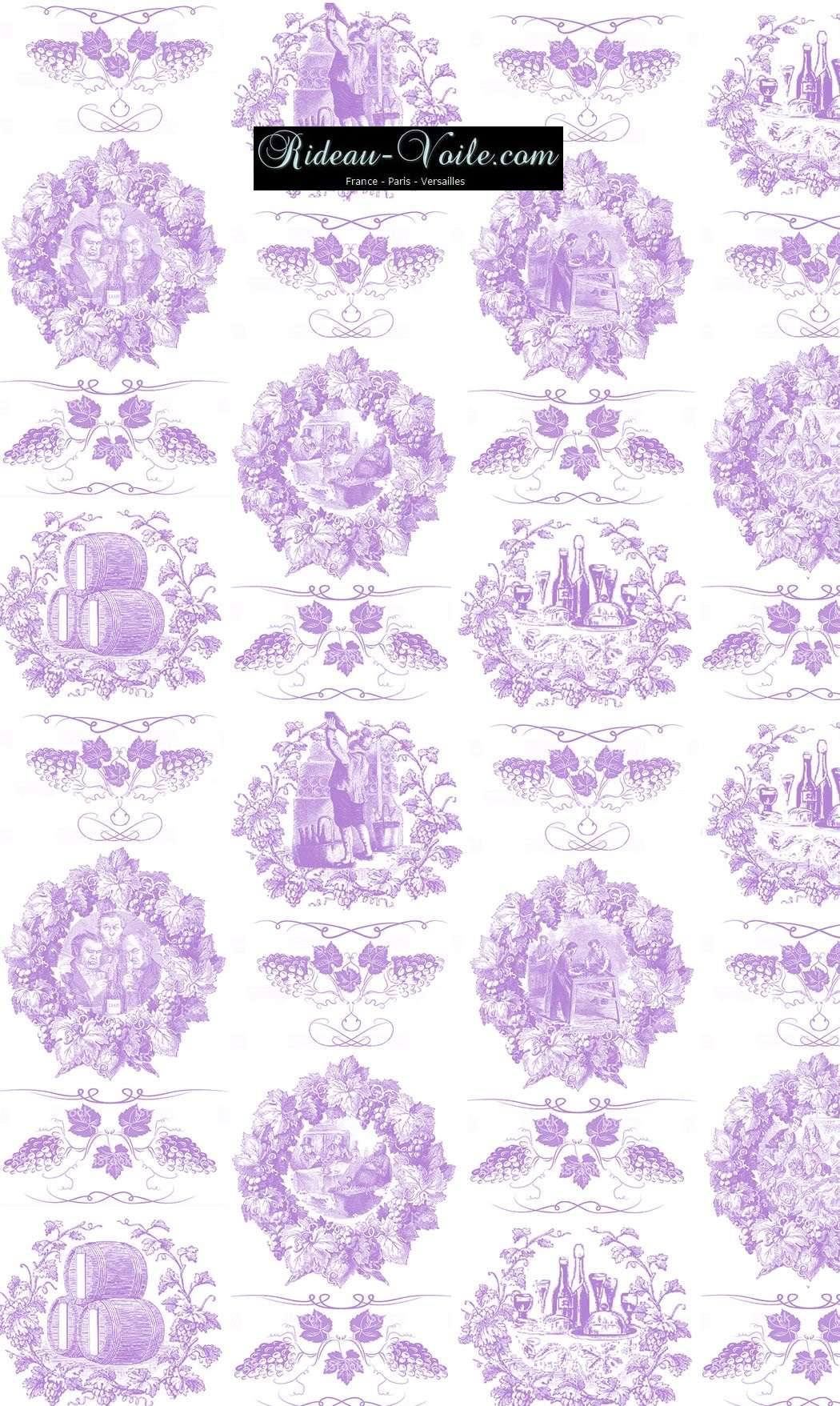 Toile de jouy tissu motif imprimé ameublement décoration tapisserie linge de maison housse coussin couette luxe lit fabric pattern printed home furnishing decoration tapestry linens cover cushion quilt luxury upholstery lilas lilac violet
