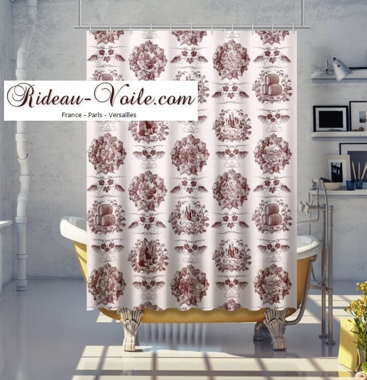 Toile de jouy tissu motif imprimé ameublement décoration tapisserie linge de maison housse coussin couette luxe lit fabric pattern printed home furnishing decoration tapestry linens cover cushion quilt luxury bed upholstery shower curtain douche
