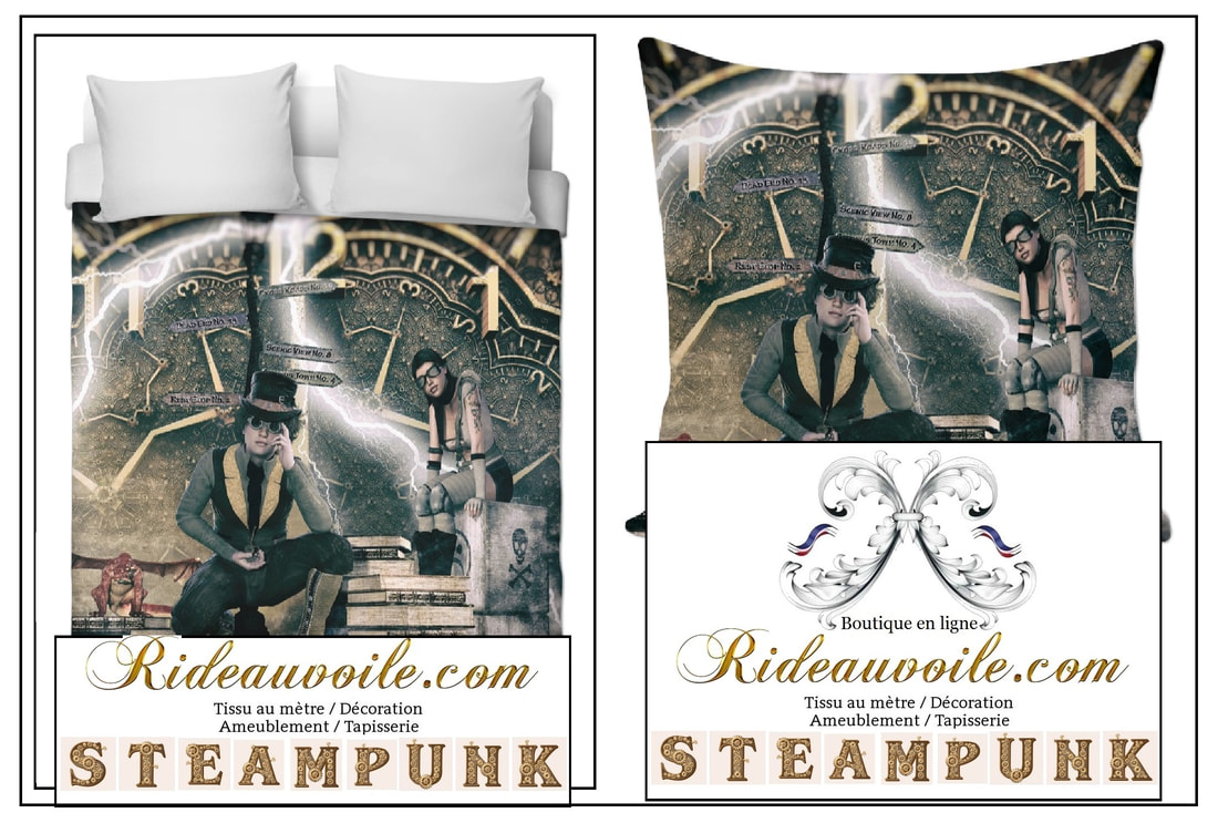 Photo Decorating room upholstery pattern Steampunk rideau tissu mètre couette fabrics drapes