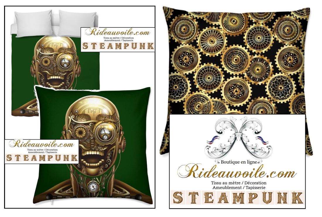 Picture Decorating room upholstery pattern Steampunk rideau tissu mètre couette fabrics drapes