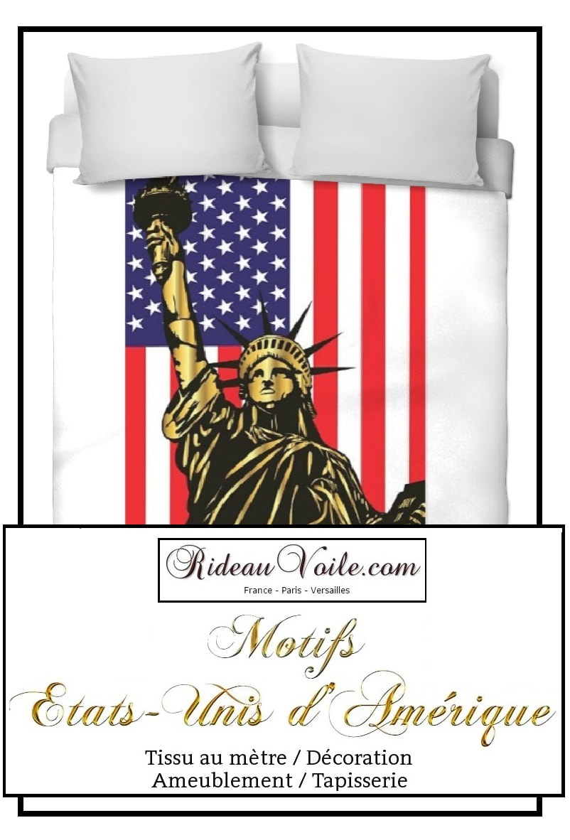 una funda nórdica impresa USA Boutique housse de couette tissu motif usa drapeau fabrics duvet cover printed pattern Flag USA